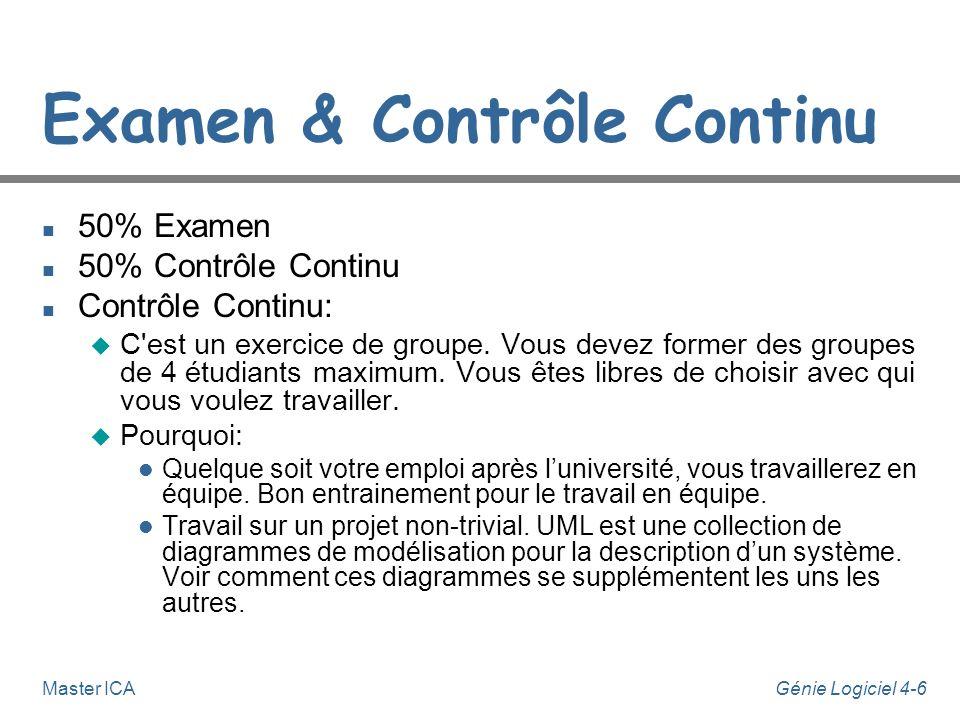 Examen & Contrôle Continu