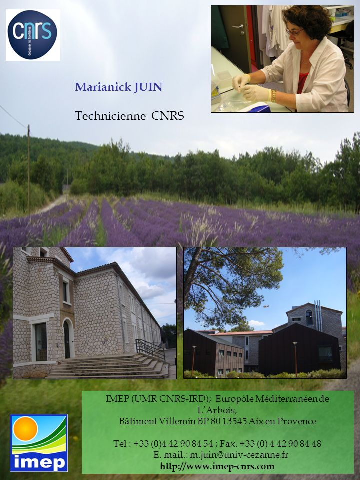 Marianick JUIN Technicienne CNRS