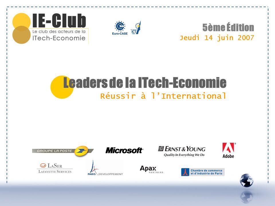 Leaders de la ITech-Economie Réussir à l'International