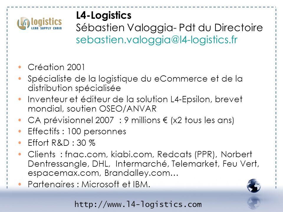 L4-Logistics Sébastien Valoggia- Pdt du Directoire