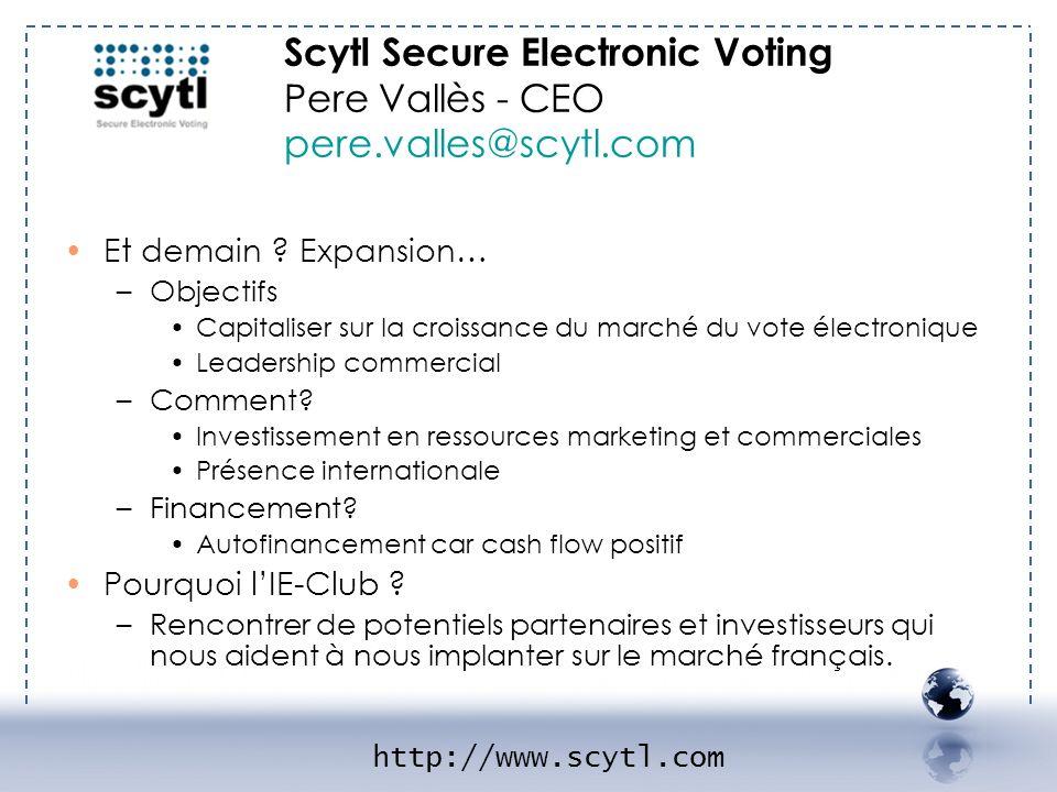 Scytl Secure Electronic Voting Pere Vallès - CEO pere.valles@scytl.com