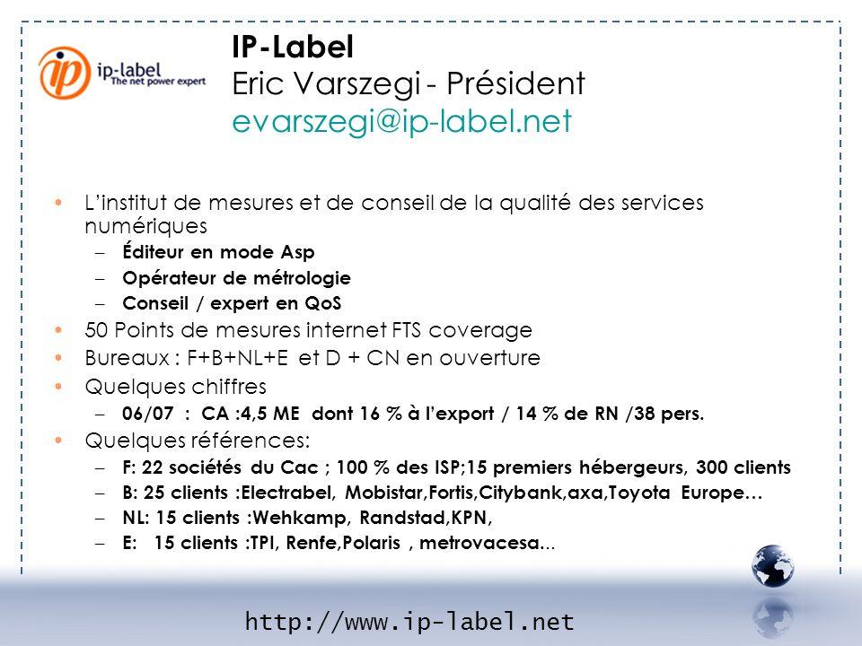 Eric Varszegi - Président evarszegi@ip-label.net