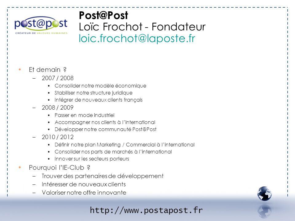Loïc Frochot - Fondateur loic.frochot@laposte.fr