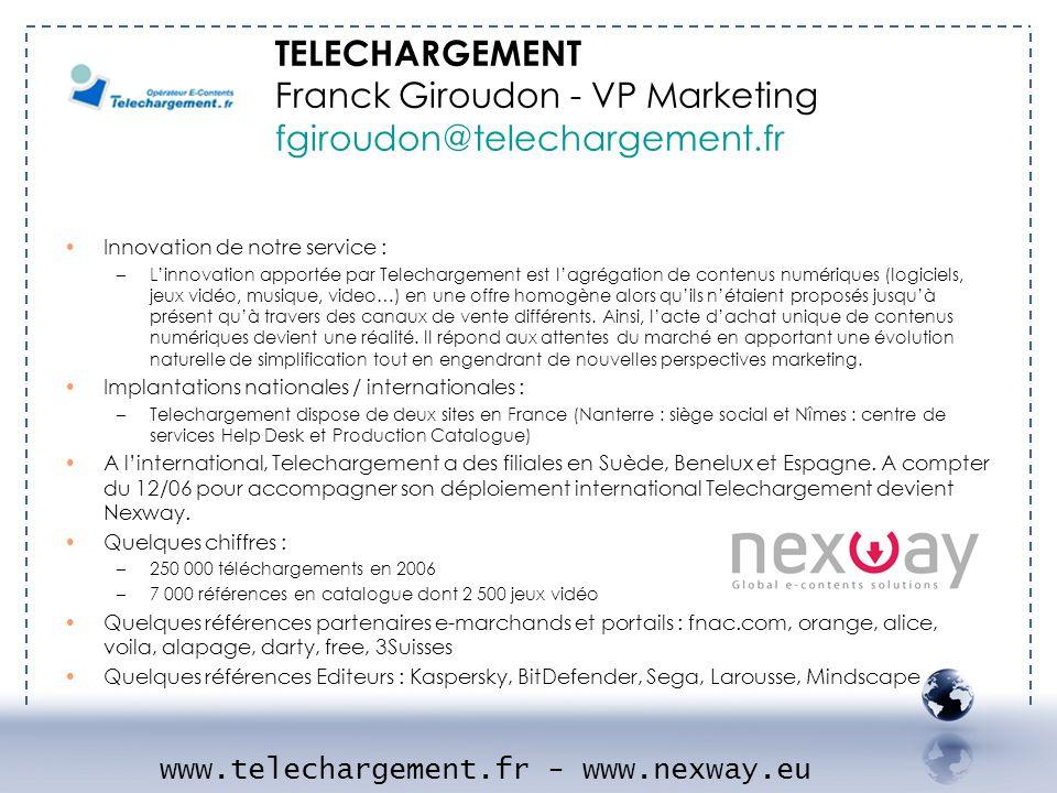 www.telechargement.fr - www.nexway.eu