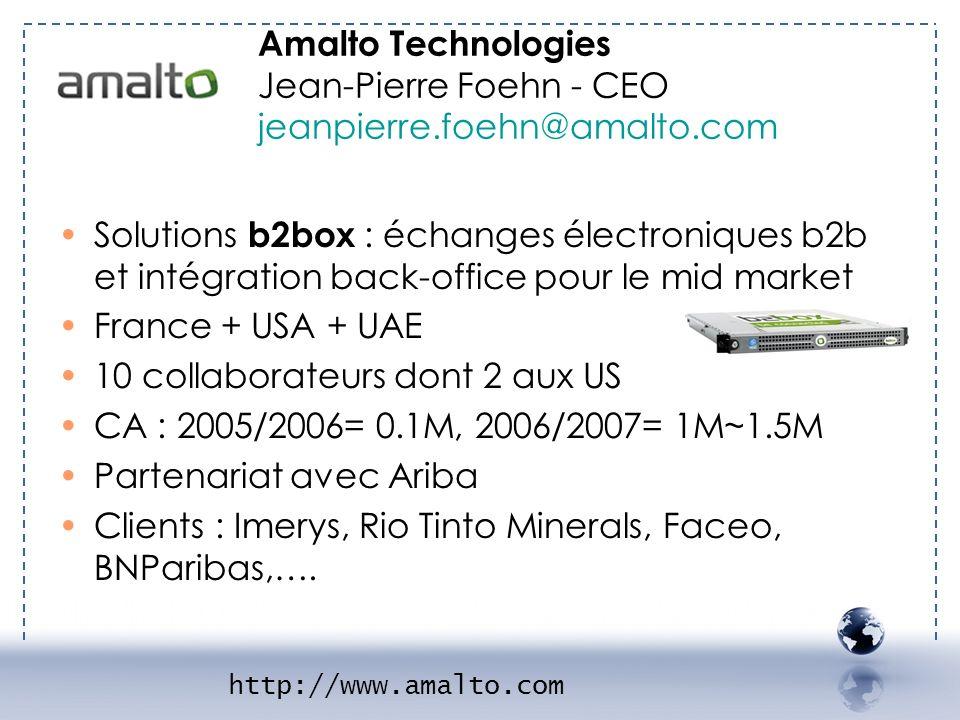 - AMALTO 1 Amalto Technologies Jean-Pierre Foehn - CEO jeanpierre.foehn@amalto.com.