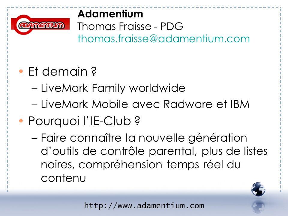 - ADAMENTIUM 2 Et demain Pourquoi l'IE-Club