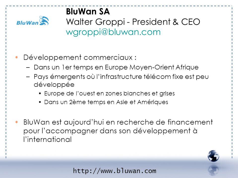 BluWan SA Walter Groppi - President & CEO wgroppi@bluwan.com