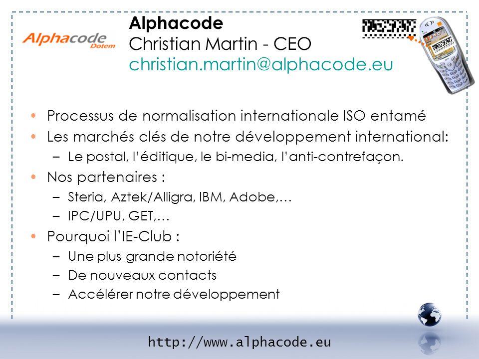 - ALPHACODE 2 Alphacode Christian Martin - CEO