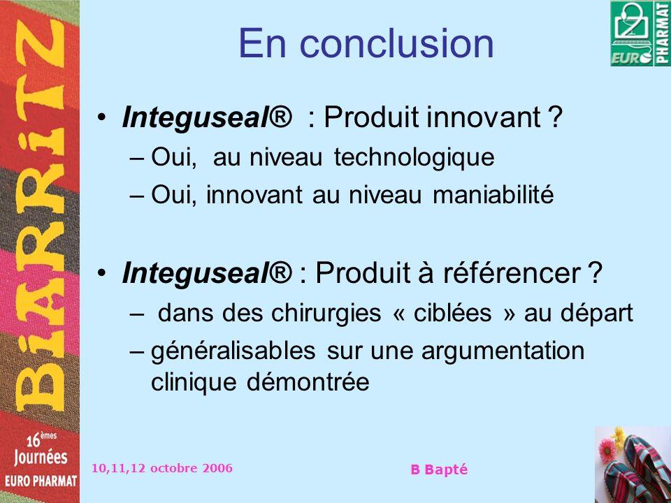 En conclusion Integuseal® : Produit innovant