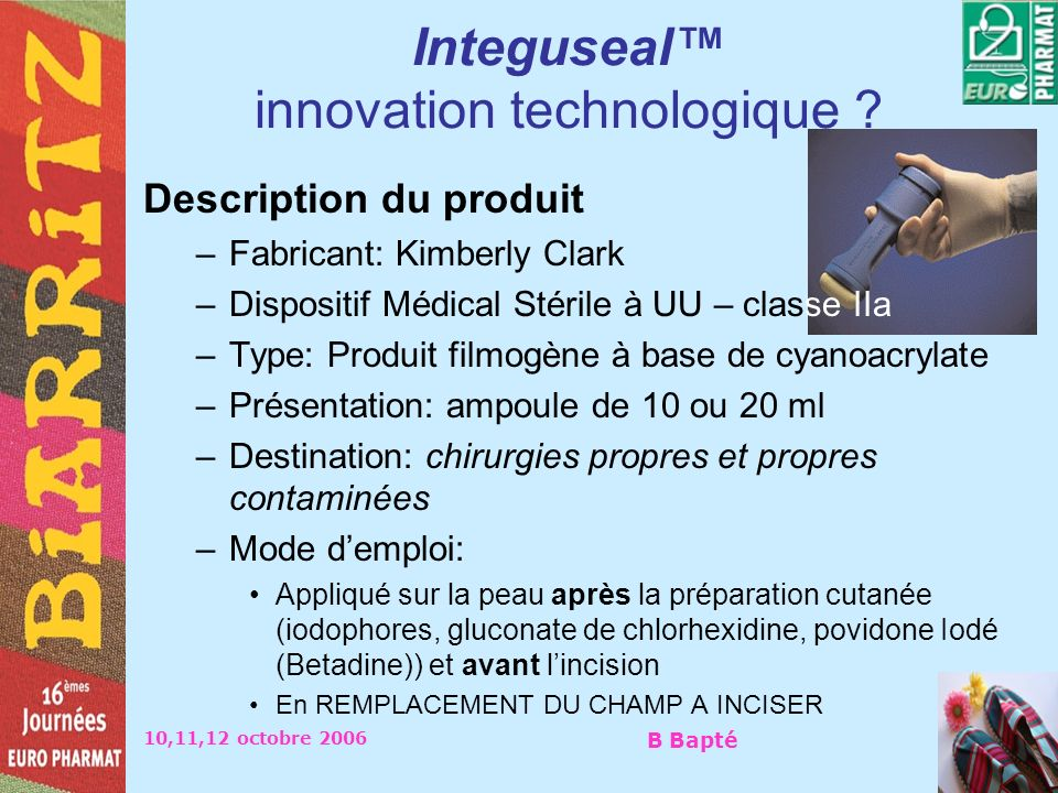 Integuseal™ innovation technologique