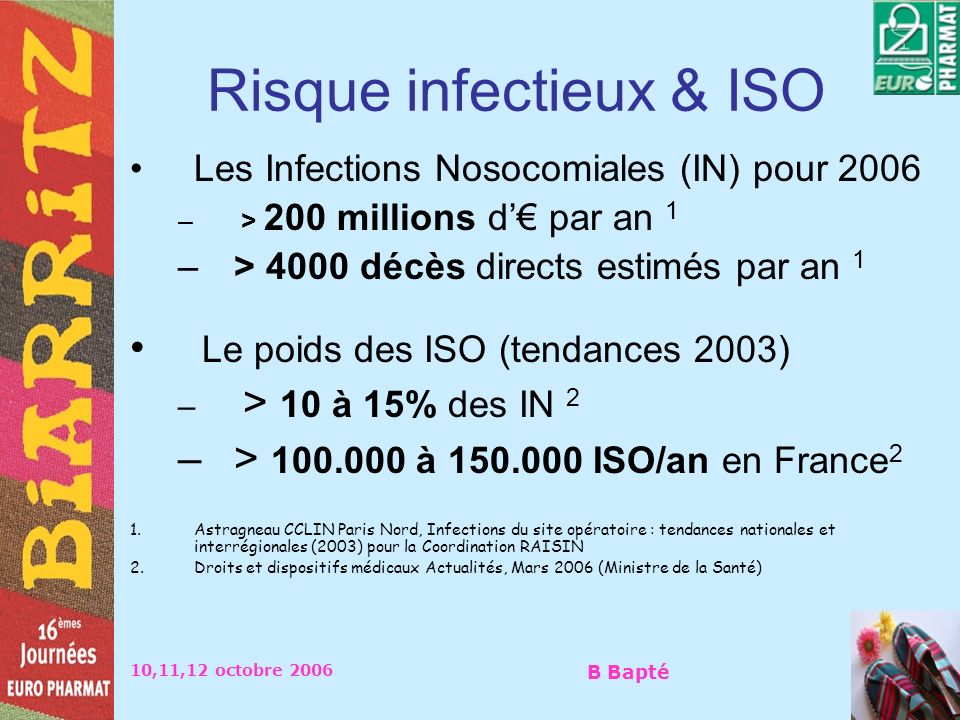 Risque infectieux & ISO