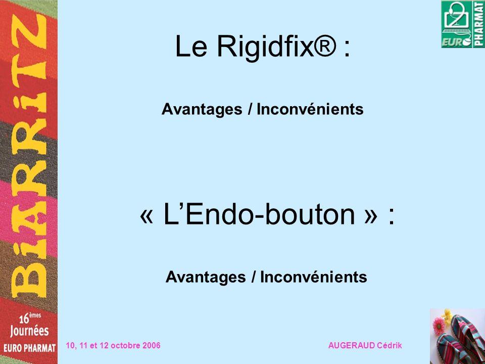 Le Rigidfix® : Avantages / Inconvénients