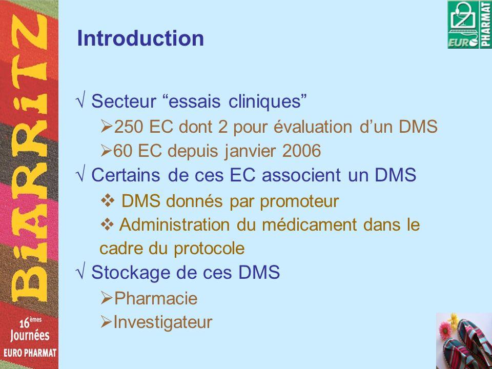 Introduction Secteur essais cliniques