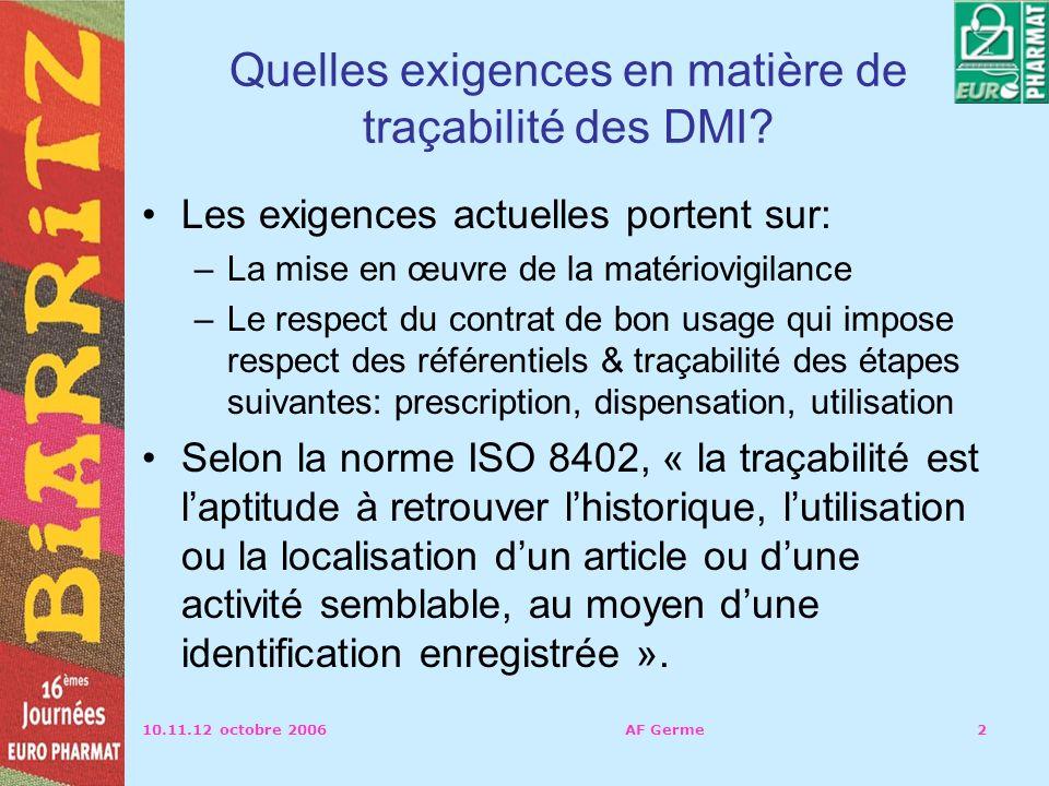 Quelles exigences en matière de traçabilité des DMI