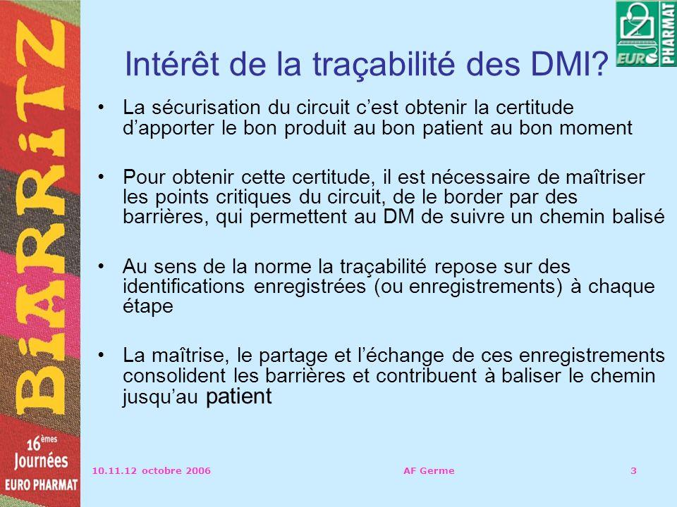 Intérêt de la traçabilité des DMI