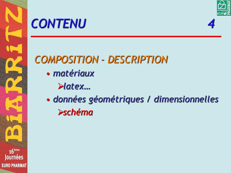CONTENU 4 COMPOSITION - DESCRIPTION matériaux latex…