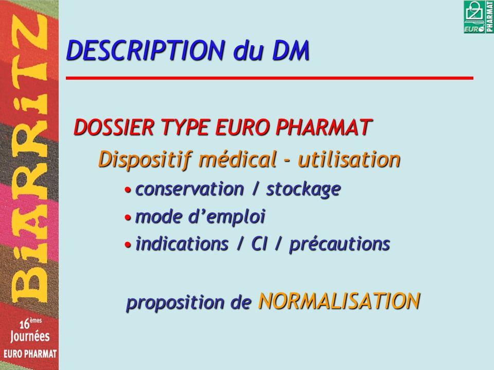 proposition de NORMALISATION