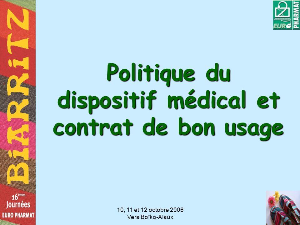 Politique du dispositif médical et contrat de bon usage