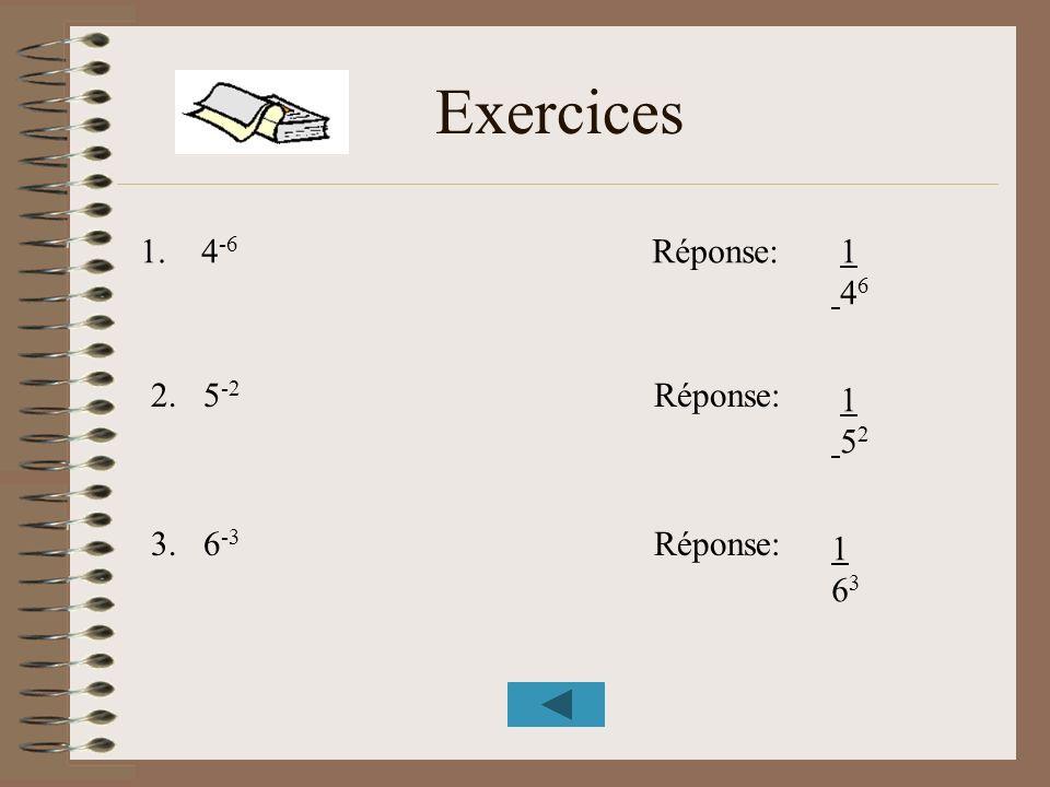 Exercices 1. 4-6 Réponse: 1 46 2. 5-2 Réponse: 1 52 3. 6-3 Réponse: 1