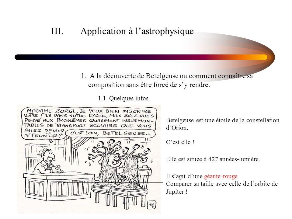 III. Application à l'astrophysique