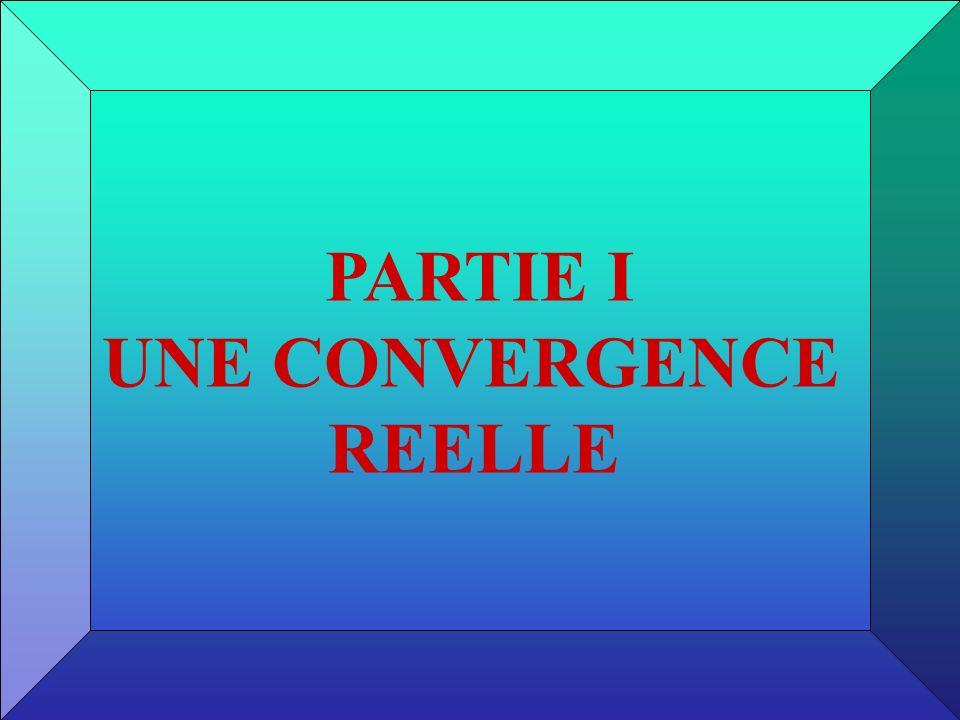 PARTIE I UNE CONVERGENCE REELLE