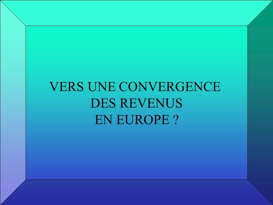 VERS UNE CONVERGENCE DES REVENUS EN EUROPE