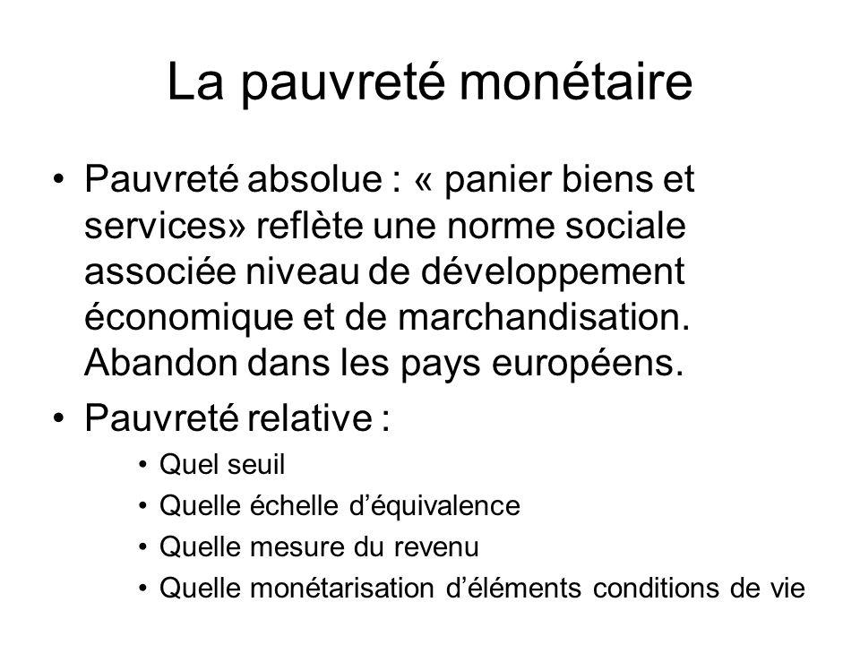 La pauvreté monétaire