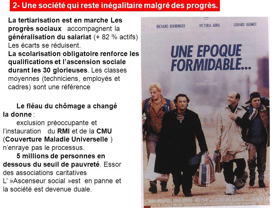 2- Une société qui reste inégalitaire malgré des progrès.