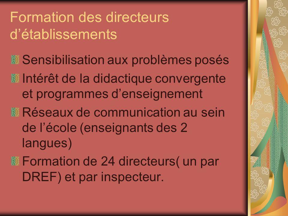 Formation des directeurs d'établissements