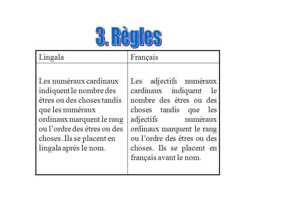 3. Règles Lingala Français