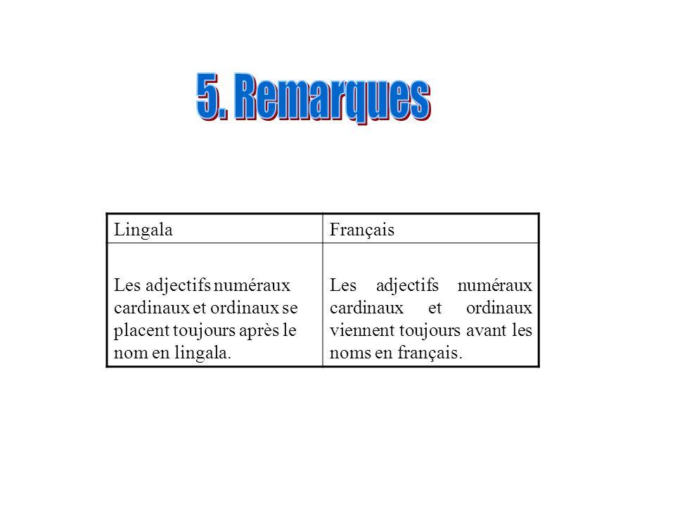 5. Remarques Lingala Français