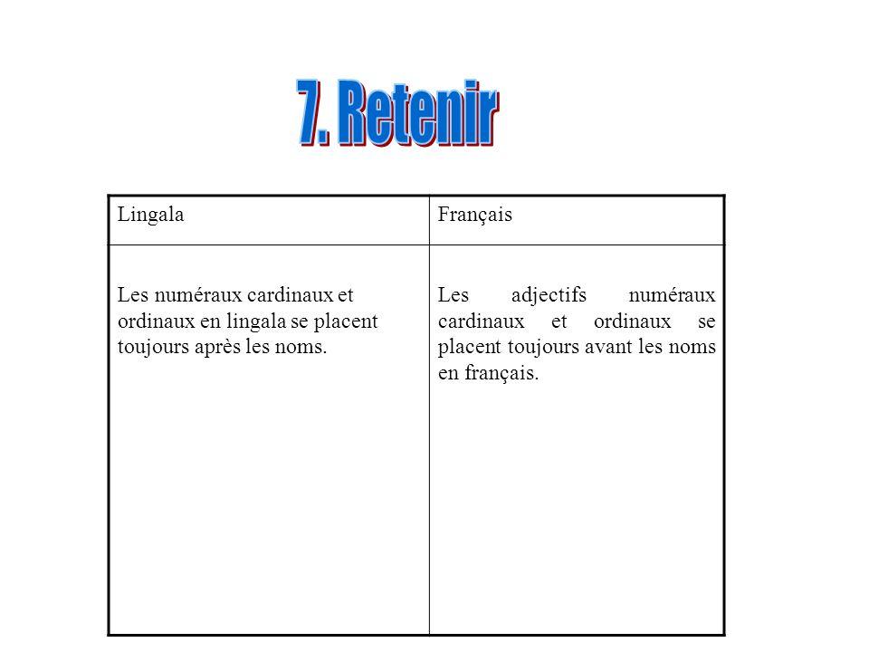 7. Retenir Lingala Français