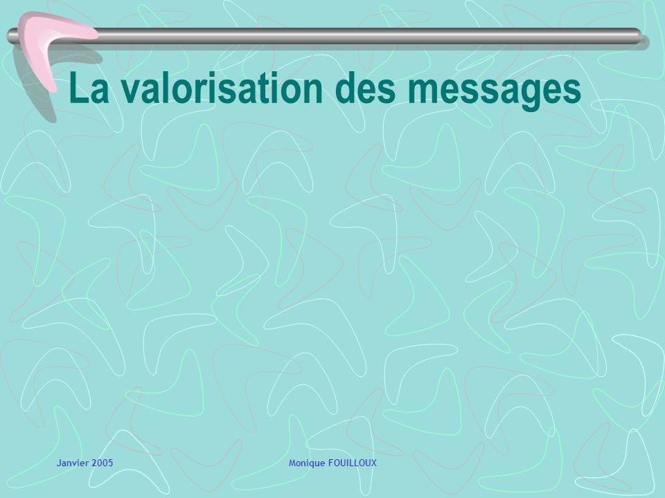 La valorisation des messages