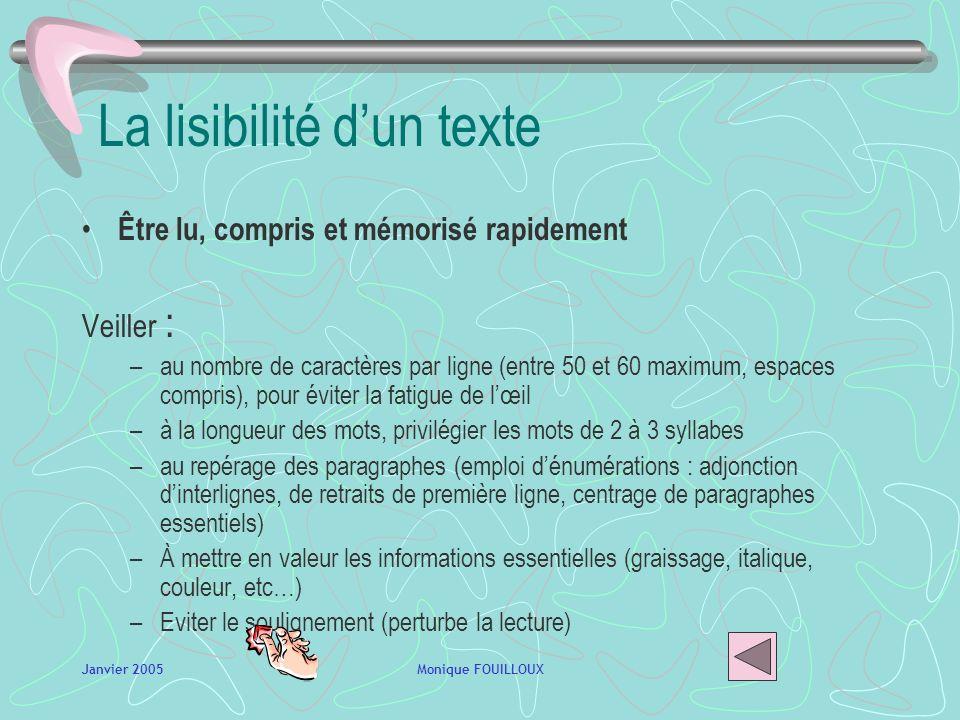 La lisibilité d'un texte