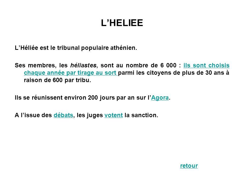 L'HELIEE L'Héliée est le tribunal populaire athénien.