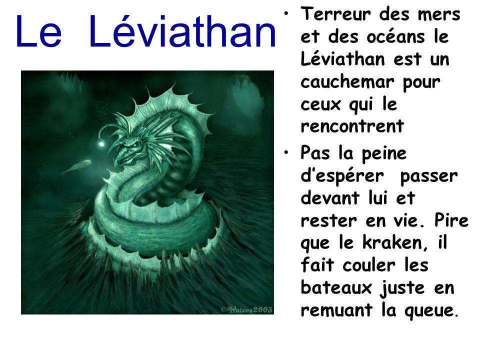 Le Léviathan Terreur des mers et des océans le Léviathan est un cauchemar pour ceux qui le rencontrent.