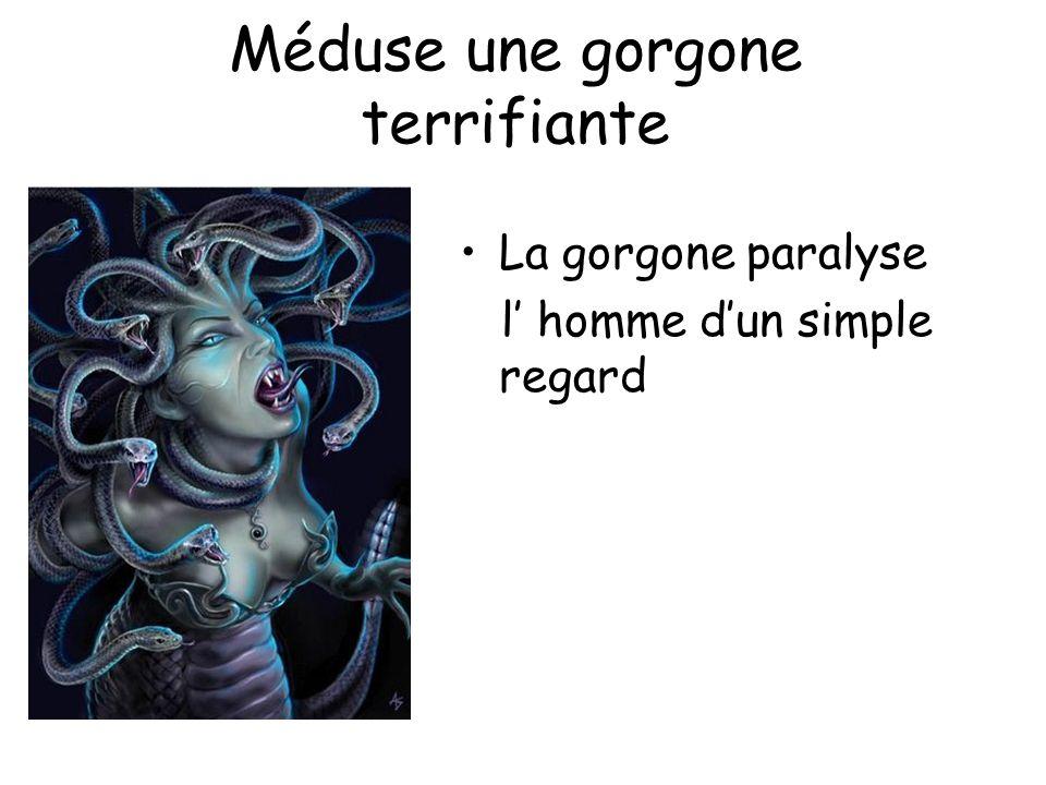 Méduse une gorgone terrifiante