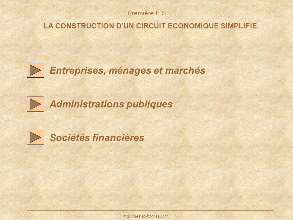 LA CONSTRUCTION D'UN CIRCUIT ECONOMIQUE SIMPLIFIE