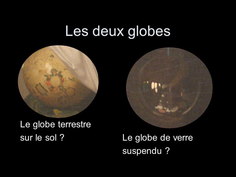 Les deux globes Le globe terrestre sur le sol Le globe de verre