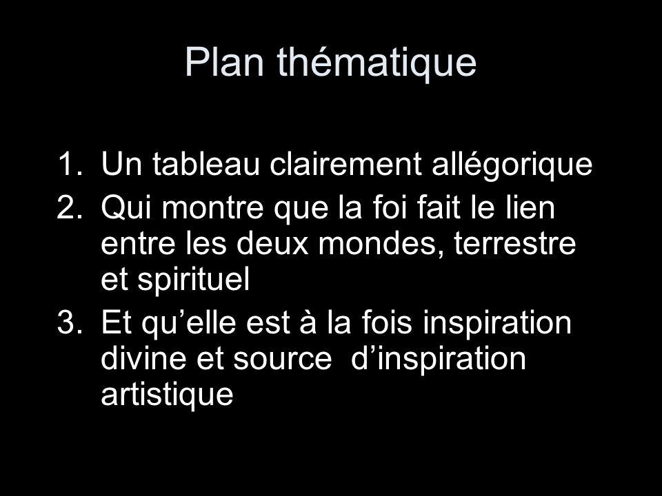 Plan thématique Un tableau clairement allégorique