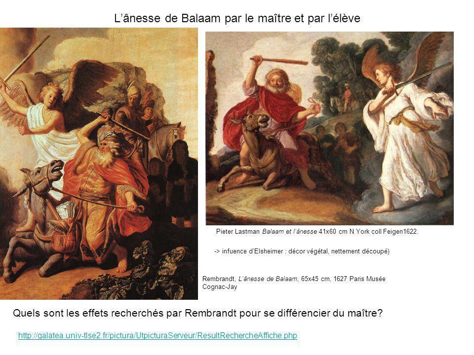 L'ânesse de Balaam par le maître et par l'élève
