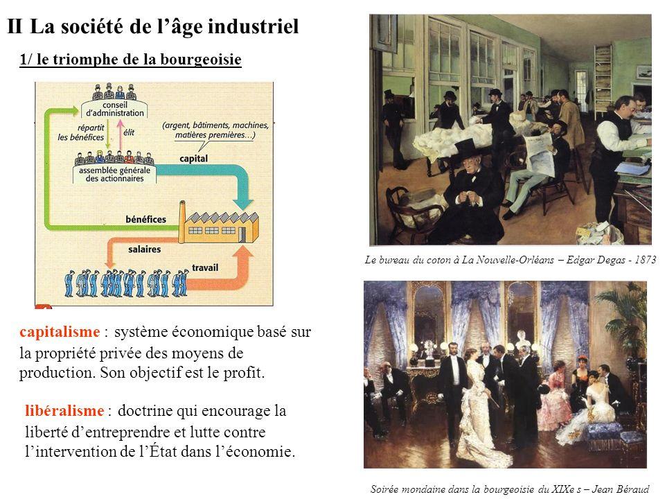 II La société de l'âge industriel