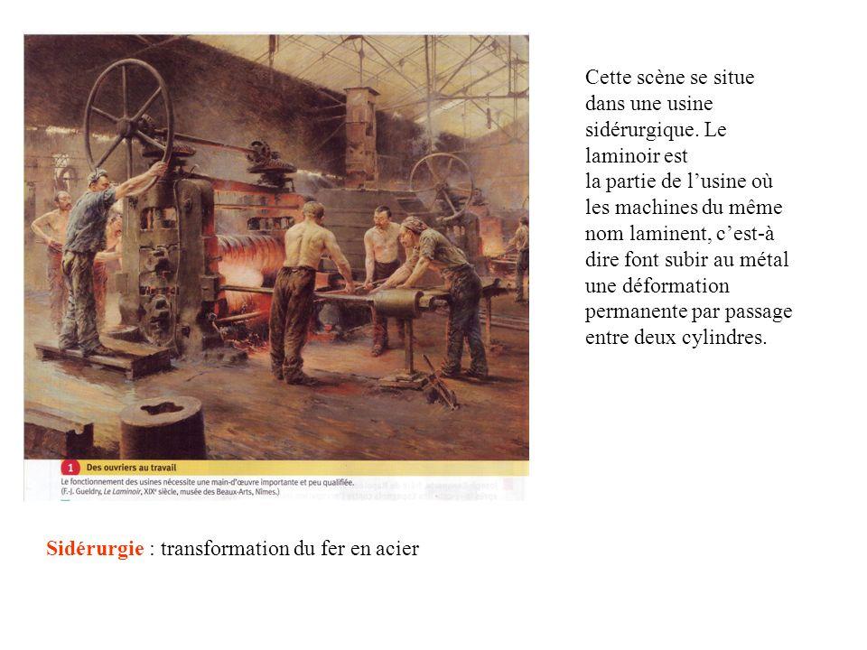 Cette scène se situe dans une usine sidérurgique. Le laminoir est