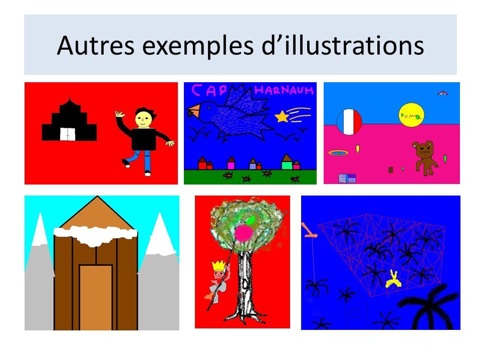 Autres exemples d'illustrations
