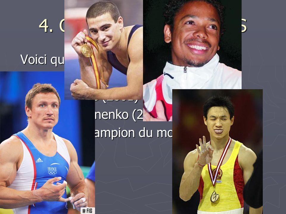 4. QUELQUES CHAMPIONS Voici quelques champions de France :