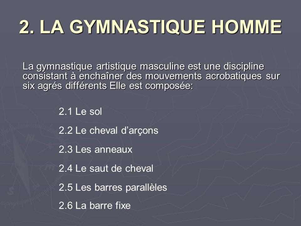 2. LA GYMNASTIQUE HOMME