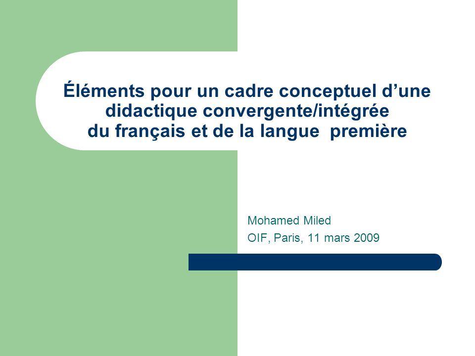 Mohamed Miled OIF, Paris, 11 mars 2009