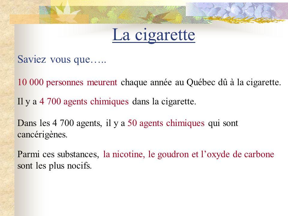 La cigarette Saviez vous que…..