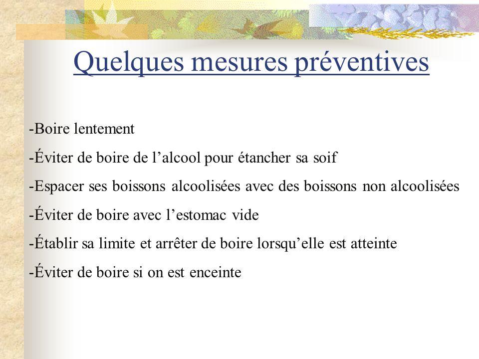 Quelques mesures préventives