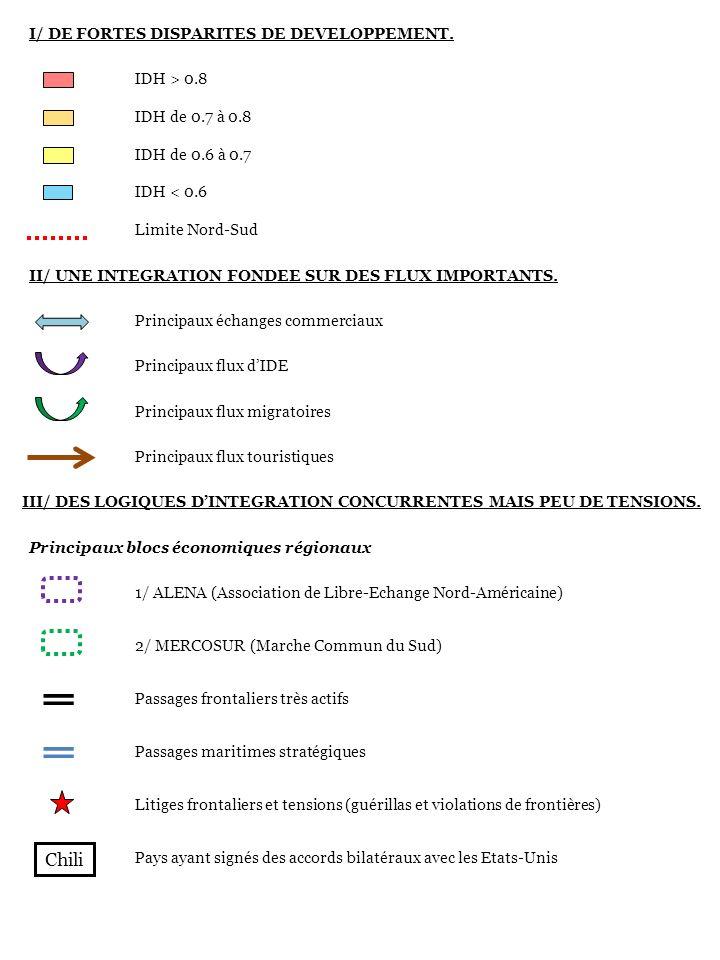 Chili I/ DE FORTES DISPARITES DE DEVELOPPEMENT. IDH > 0.8
